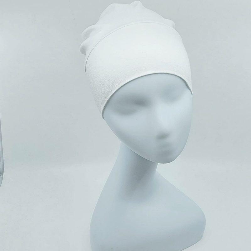 bonnet a nouer simple blanc