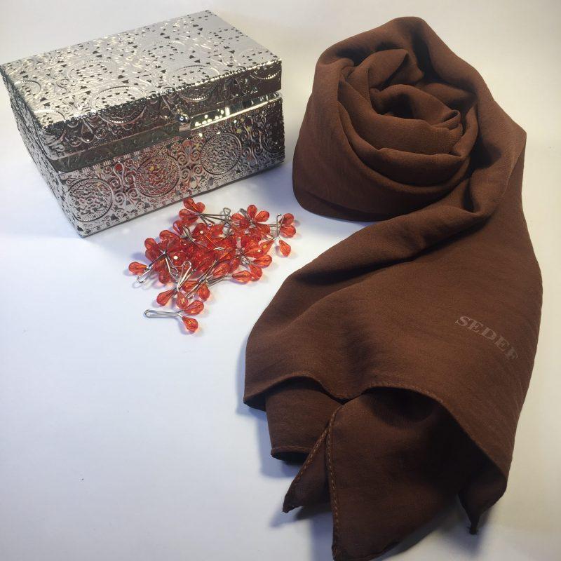 hijab jazz sedef chocolat