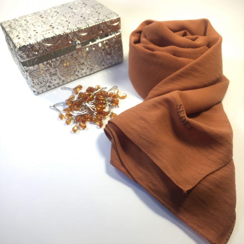 hijab jazz sedef marron