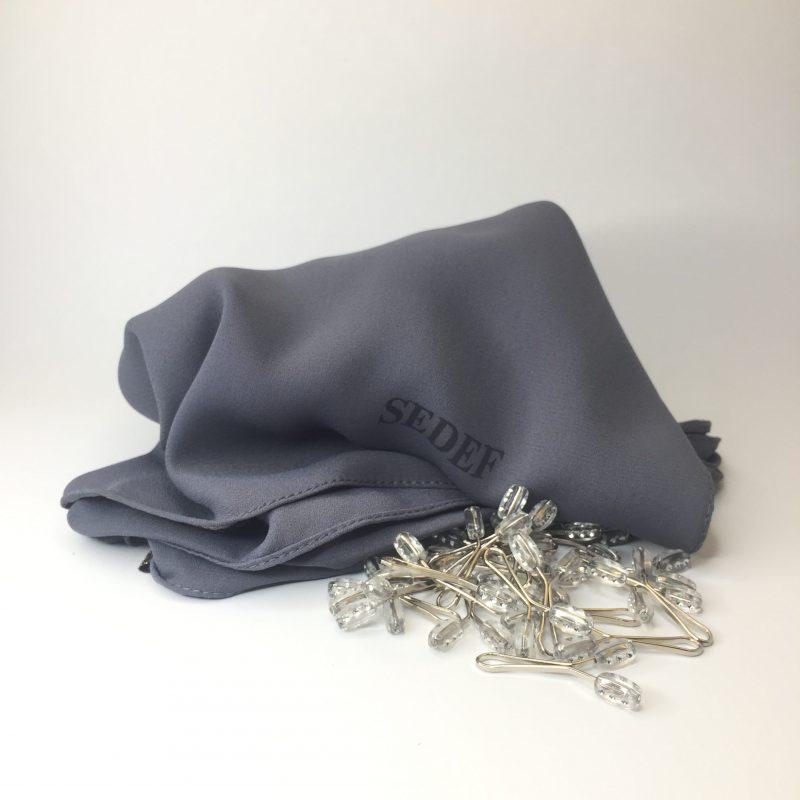 hijab crêpe sedef