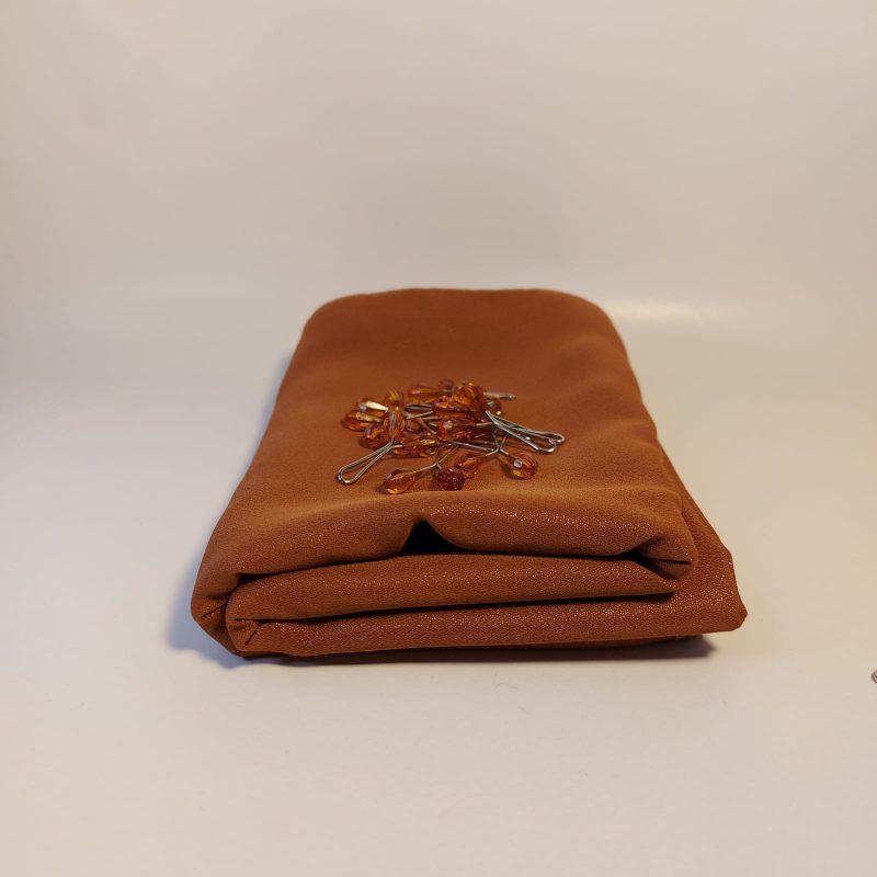 soie de médine pailleté marron