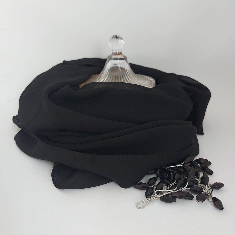 hijab mousseline hicabistan noir