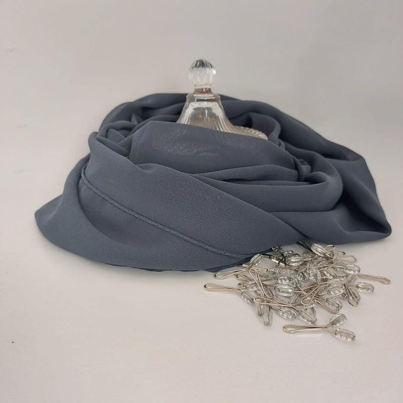 hijab mousseline hicabistan gris Lepus
