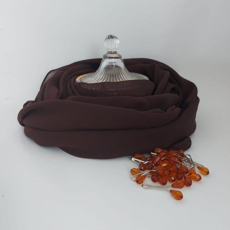 hijab mousseline Hicabistan chocolat