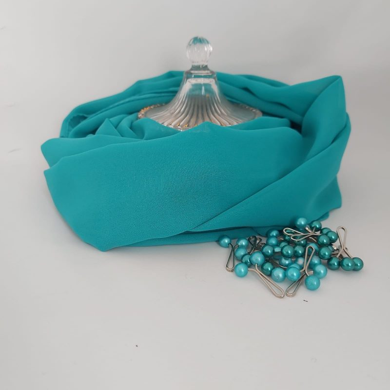 hijab mousseline hicabistan turquoise