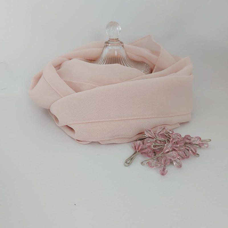 hijab hicabistan mousseline rose