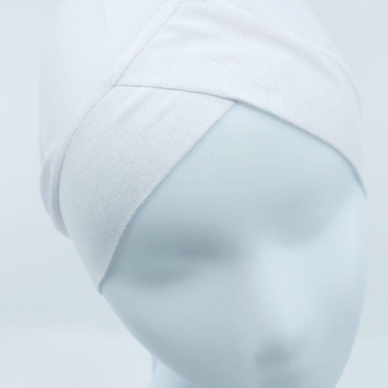 bonnet croisé sedef blanc