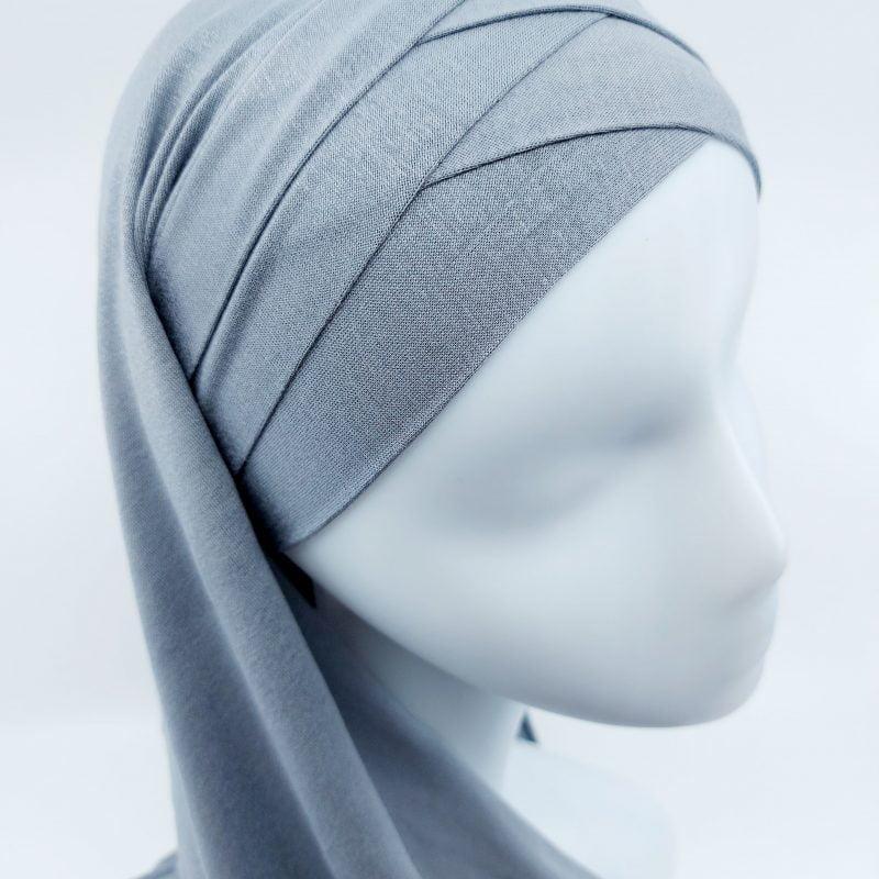 hijab sedef à nouer jersey gris