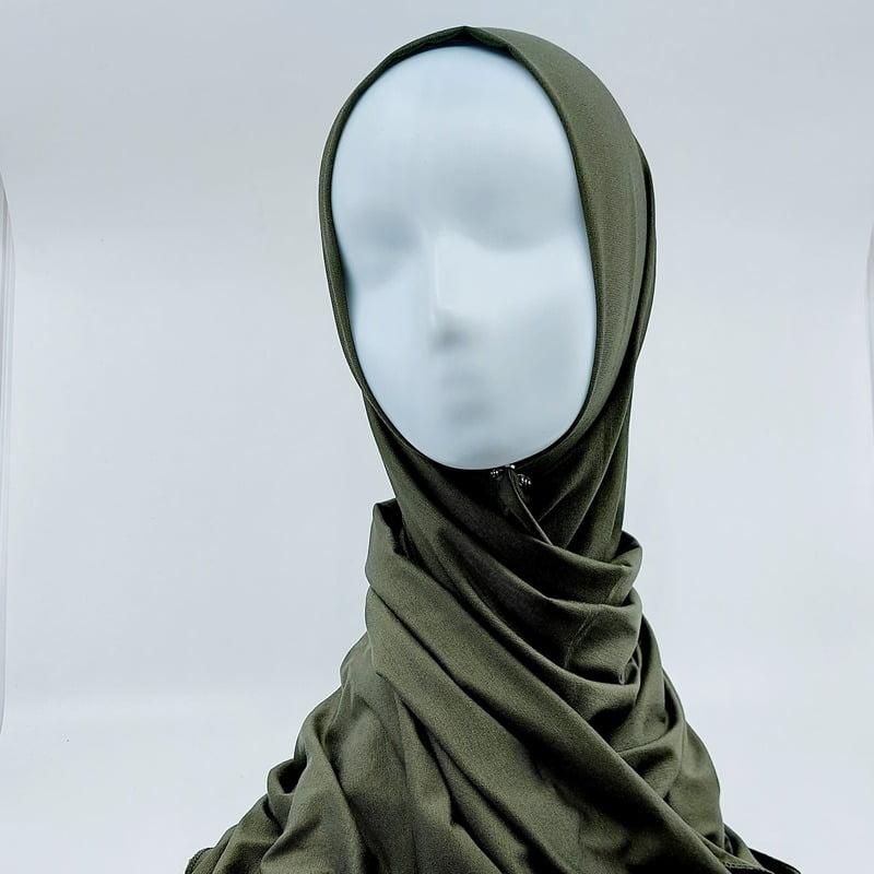 hijab jersey sedef vert kaki