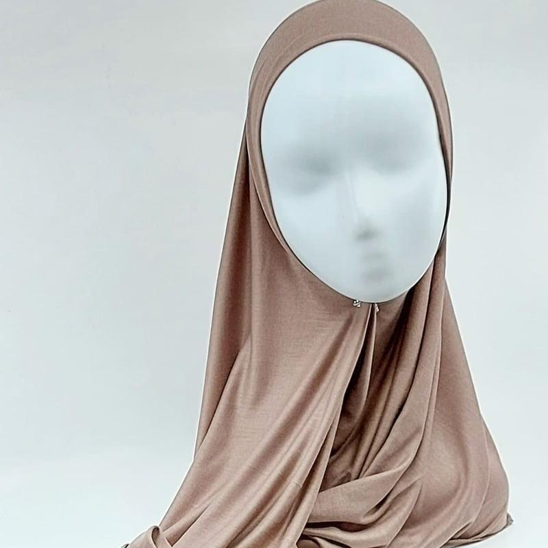 hijab jersey sedef taupe