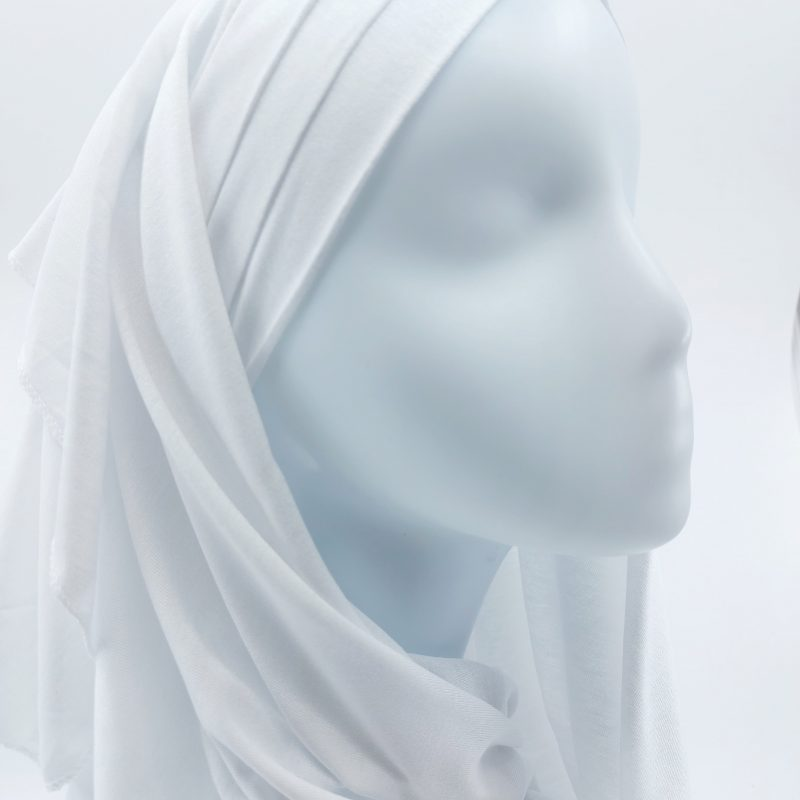 hijab sedef à nouer jersey blanc