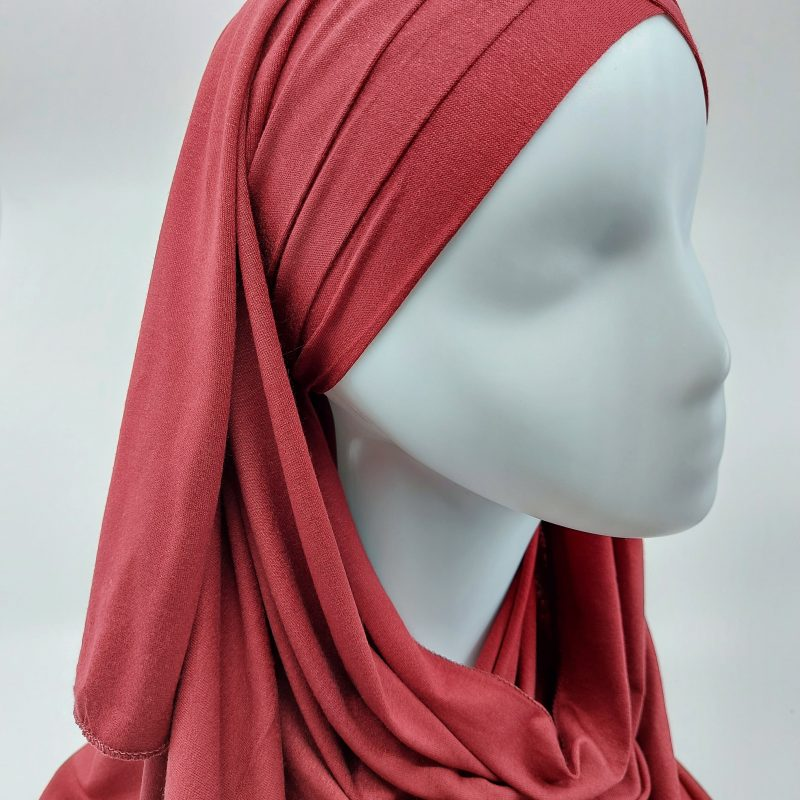 hijab sedef à nouer jersey rouge