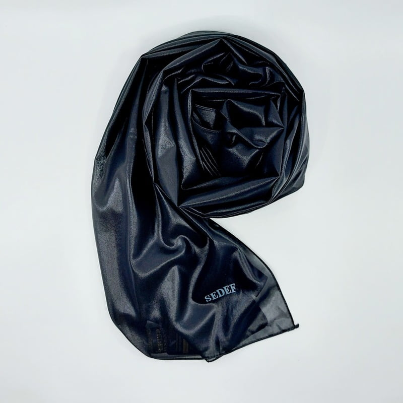 hijab-sedef-effet-cuir-noir