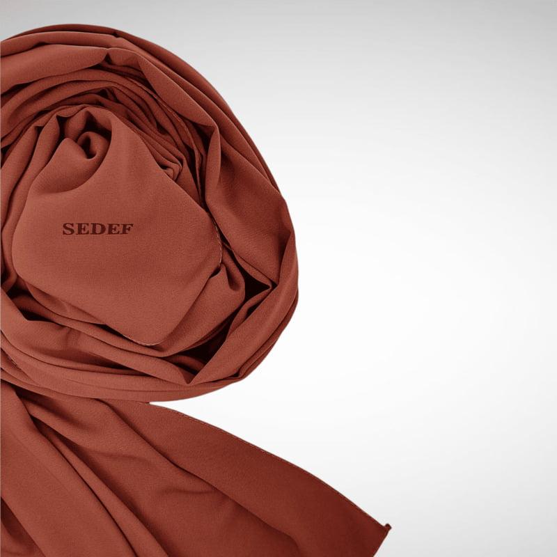 hijab cuivre soie de médine
