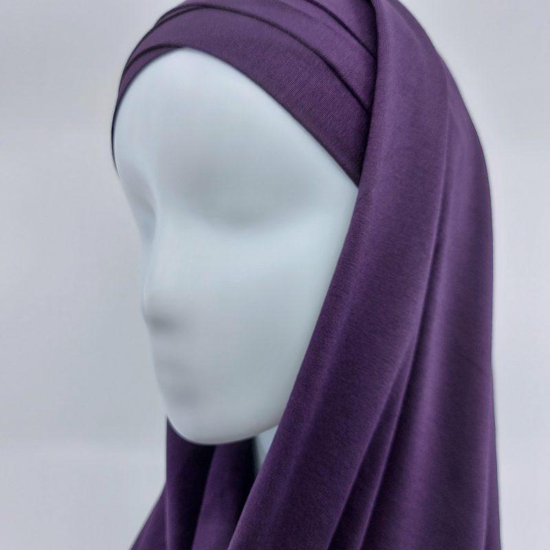 hijab sedef à nouer jersey violet