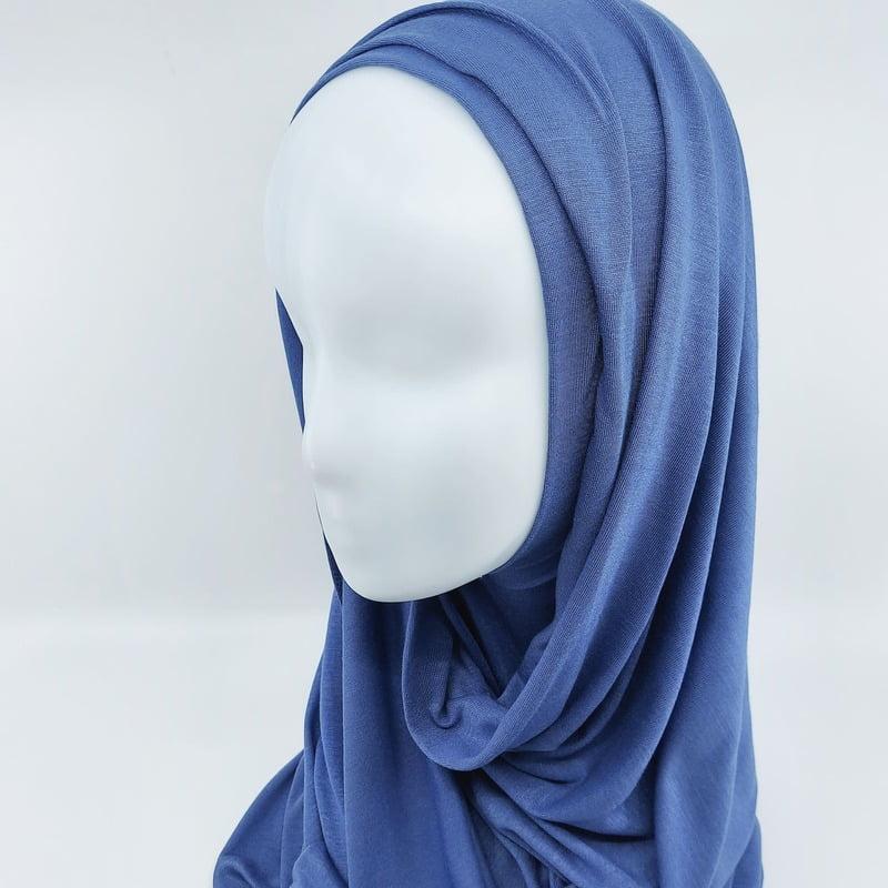 hijab jersey Sedef Bleu denim